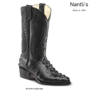 BA51105 Crocodile Black Botas Vaqueras Western Boots Nantlis