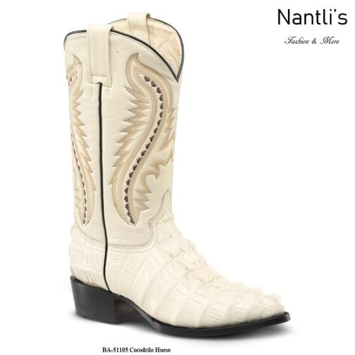 BA51105 Crocodile Bone Botas Vaqueras Western Boots Nantlis