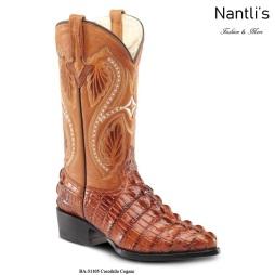 BA51105 Crocodile Cognac Botas Vaqueras Western Boots Nantlis