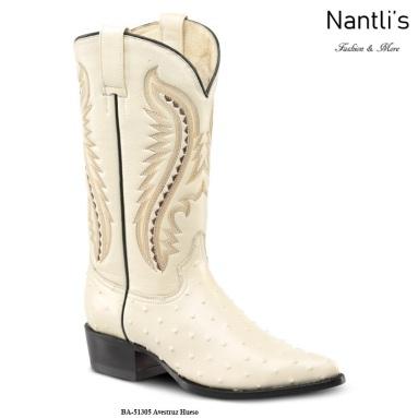 BA51305 Ostrich Bone Botas Vaqueras Western Boots Nantlis