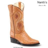 BA51305 Ostrich Cognac Botas Vaqueras Western Boots Nantlis
