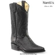 BA51705 Pata de Avestruz black Botas Vaqueras Western Boots Nantlis