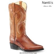 BA51705 Pata de Avestruz Cognac Botas Vaqueras Western Boots Nantlis