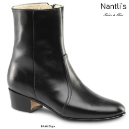 BA602 Negro Botines Charros Equestrian Paddock Boots Nantlis