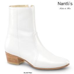 BA602 Piel Hueso Botines Charros Equestrian Paddock Boots Nantlis