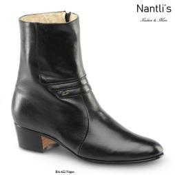 BA622 Cabra Negro Botines Charros Equestrian Paddock Boots Nantlis