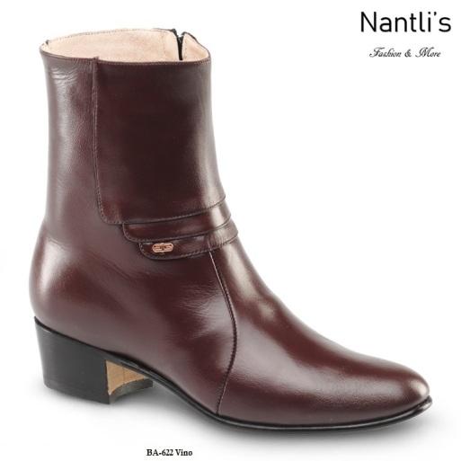 ad12eb4446 BA622 Cabra Vino Botines Charros Equestrian Paddock Boots Nantlis