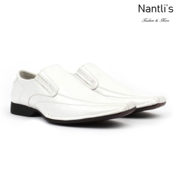 BE-A125 White Zapatos por Mayoreo Wholesale Mens shoes Nantlis Bonafini Shoes