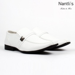 BE-A126 White Zapatos por Mayoreo Wholesale Mens shoes Nantlis Bonafini Shoes
