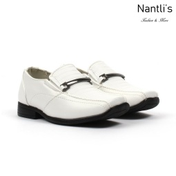 BE-i121 White Zapatos por Mayoreo Wholesale kids shoes Nantlis Bonafini Shoes