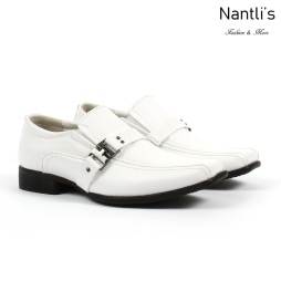 BE-K160 White Zapatos por Mayoreo Wholesale kids shoes Nantlis Bonafini Shoes