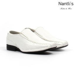 BE-K219 White Zapatos por Mayoreo Wholesale kids shoes Nantlis Bonafini Shoes