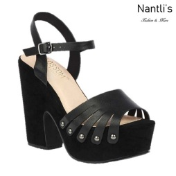 BL-Alden-1 Black Zapatos de Mujer Mayoreo Wholesale Women Shoes Wedges Nantlis