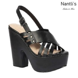 BL-Alden-2 Black Zapatos de Mujer Mayoreo Wholesale Women Shoes Wedges Nantlis