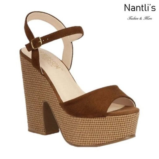 BL-Alden-3 Brown Zapatos de Mujer Mayoreo Wholesale Women Shoes Wedges Nantlis