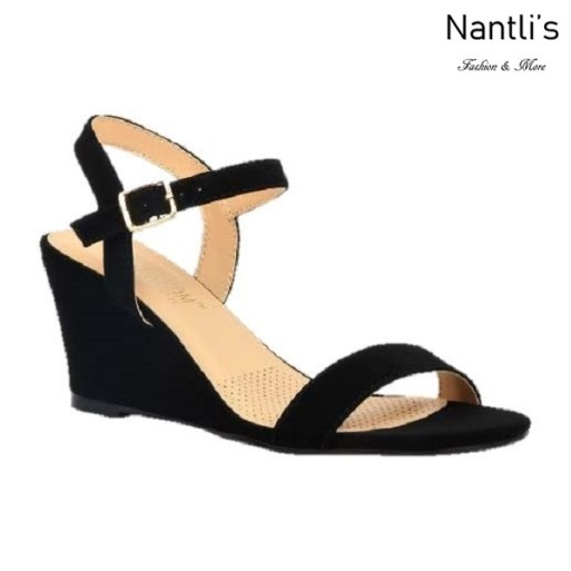 BL-Alice-10 Black Zapatos de Mujer Mayoreo Wholesale Women Shoes Wedges Nantlis