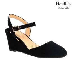 BL-Alice-13 Black Zapatos de Mujer Mayoreo Wholesale Women Shoes Wedges Nantlis