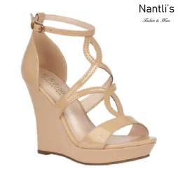 BL-Alle-11 Nude Zapatos de Mujer Mayoreo Wholesale Women Shoes Wedges Nantlis