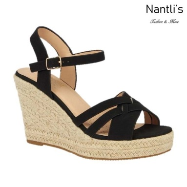 BL-Andy-11 Black Zapatos de Mujer Mayoreo Wholesale Women Shoes Wedges Nantlis