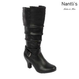 BL-Brand-46 Black Botas de Mujer Mayoreo Wholesale Womens Boots Nantlis