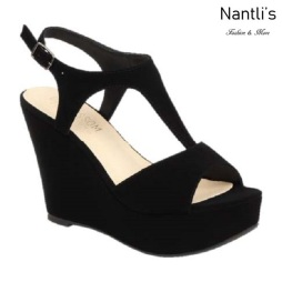 BL-Christy-47 Black Zapatos de Mujer Mayoreo Wholesale Women Shoes Wedges Nantlis