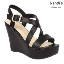 BL-Christy-48 Black Zapatos de Mujer Mayoreo Wholesale Women Shoes Wedges Nantlis