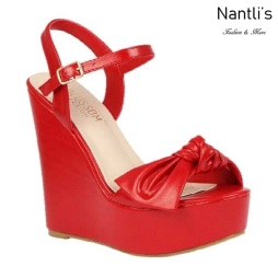 BL-Dalia-12 Red Zapatos de Mujer Mayoreo Wholesale Women Shoes Wedges Nantlis