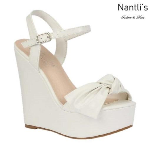 BL-Dalia-12 White Zapatos de Mujer Mayoreo Wholesale Women Shoes Wedges Nantlis