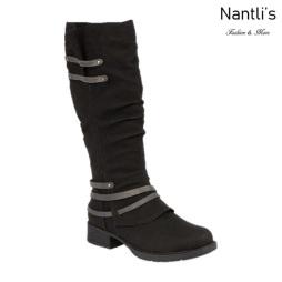 BL-Danita-1 Black Botas de Mujer Mayoreo Wholesale Womens Boots Nantlis