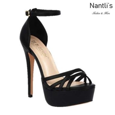 BL-Flora-10 Black Zapatos de Mujer Mayoreo Wholesale Women Heels Shoes Nantlis