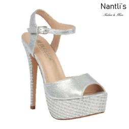 BL-Flora-11 Silver Zapatos de Mujer Mayoreo Wholesale Women Heels Shoes Nantlis