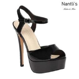 BL-Flora-12 Black Zapatos de Mujer Mayoreo Wholesale Women Heels Shoes Nantlis