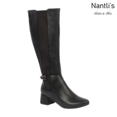BL-Hana-1 Black Botas de Mujer Mayoreo Wholesale Womens Boots Nantlis