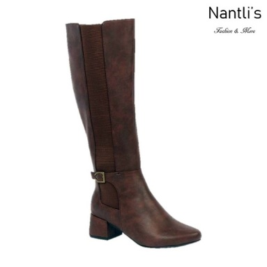 BL-Hana-1 Brown Botas de Mujer Mayoreo Wholesale Womens Boots Nantlis