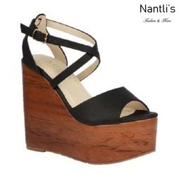 BL-Iris-11 Black Zapatos de Mujer Mayoreo Wholesale Women Shoes Wedges Nantlis