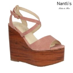 BL-Iris-11 Coral Zapatos de Mujer Mayoreo Wholesale Women Shoes Wedges Nantlis