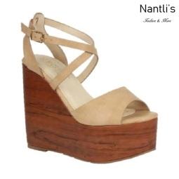 BL-Iris-11 Nude Zapatos de Mujer Mayoreo Wholesale Women Shoes Wedges Nantlis