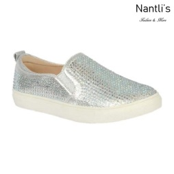 BL-K-Ashley-8 Silver Zapatos de nina Mayoreo Wholesale kids sneakers Shoes Nantlis