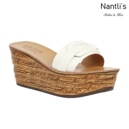 BL-Kloss-1 White Zapatos de Mujer Mayoreo Wholesale Women Shoes Wedges sandals Nantlis