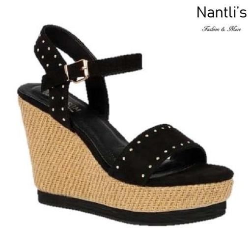 BL-Lana-11 Black Zapatos de Mujer Mayoreo Wholesale Women Shoes Wedges Nantlis