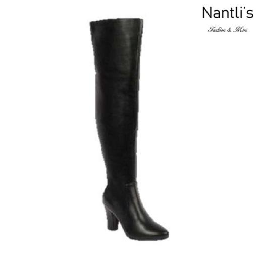 BL-Lucia-11 Black Botas de Mujer Mayoreo Wholesale Womens Boots Nantlis