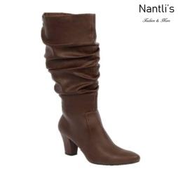 BL-Lucia-13 Brown Botas de Mujer Mayoreo Wholesale Womens Boots Nantlis