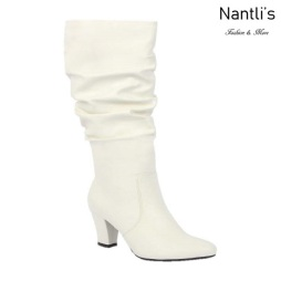 BL-Lucia-13 White Botas de Mujer Mayoreo Wholesale Womens Boots Nantlis