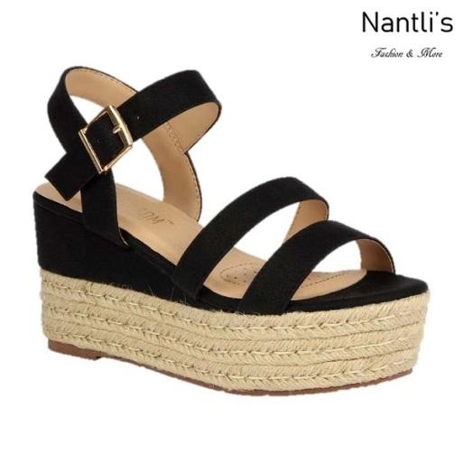 BL-Nina-11 Black Zapatos de Mujer Mayoreo Wholesale Women Shoes Wedges Nantlis