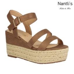 BL-Nina-11 Tan Zapatos de Mujer Mayoreo Wholesale Women Shoes Wedges Nantlis