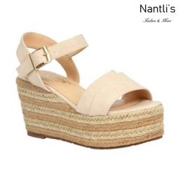 BL-Nina-16 Beige Zapatos de Mujer Mayoreo Wholesale Women Shoes Wedges Nantlis