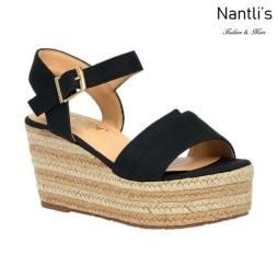 BL-Nina-16 Black Zapatos de Mujer Mayoreo Wholesale Women Shoes Wedges Nantlis
