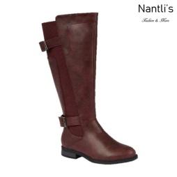BL-Pita-37W Burgundy Botas de Mujer Mayoreo Wholesale Womens Boots Nantlis