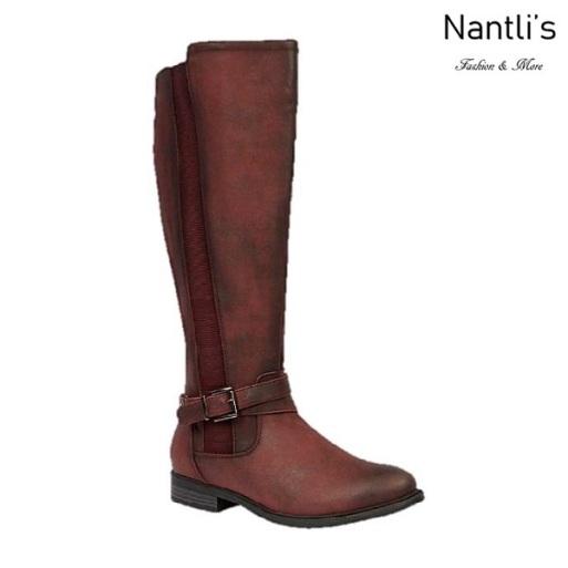 BL-Pita-46 Burgundy Botas de Mujer Mayoreo Wholesale Womens Boots Nantlis