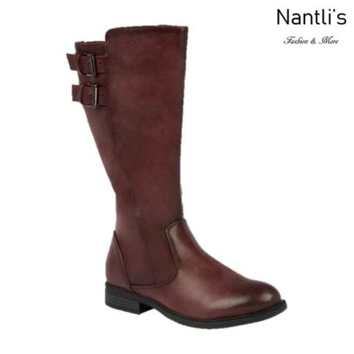 BL-Pita-50W Burgundy Botas de Mujer Mayoreo Wholesale Womens Boots Nantlis